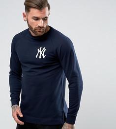 Длинный свитшот с рукавами реглан Majestic Yankees эксклюзивно для ASOS - Темно-синий