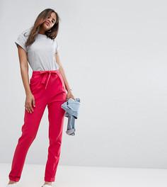 Тканые брюки‑галифе с поясом оби ASOS TALL - Розовый