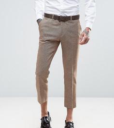 Укороченные твидовые брюки скинни с шевронным узором Heart & Dagger - Светло-серый
