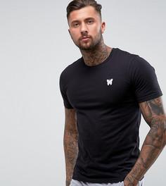 Черная обтягивающая футболка с логотипом на груди Good For Nothing - Черный