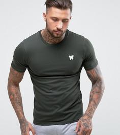 Обтягивающая футболка цвета хаки с логотипом на груди Good For Nothing - Зеленый