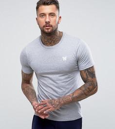 Серая облегающая футболка с логотипом на груди Good For Nothing - Серый