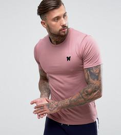 Розовая облегающая футболка с логотипом на груди Good For Nothing - Розовый