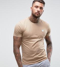Облегающая футболка песочного цвета с принтом на груди Good For Nothing - Светло-серый