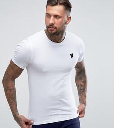 Белая облегающая футболка с принтом на груди Good For Nothing - Белый