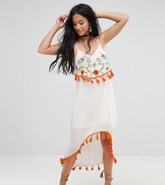 Платье миди с вышивкой Glamorous Petite - Мульти