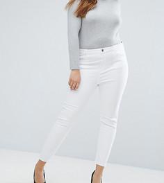 Белые джинсы скинни с завышенной талией ASOS CURVE RIDLEY - Белый