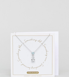 Подарочный набор с ожерельем Johnny Loves Rosie Something Borrowed Something Blue - Серебряный