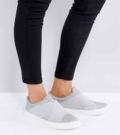Кроссовки-слипоны с резинками London Rebel - Серый