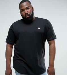 Длинная футболка с асимметричным краем Le Breve PLUS - Черный