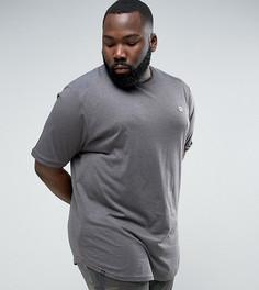 Длинная футболка с асимметричным краем Le Breve PLUS - Серый