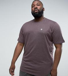 Удлиненная меланжевая футболка с асимметричный краем Le Breve PLUS - Фиолетовый