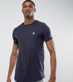 Длинная футболка с асимметричным краем Le Breve TALL - Темно-синий