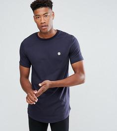 Длинная футболка с асимметричным краем Le Breve TALL - Черный