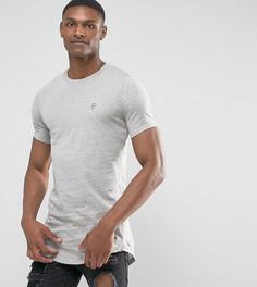 Длинная футболка с асимметричным краем Le Breve TALL - Серый
