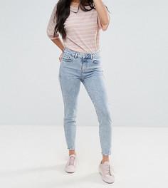 Мраморные джинсы скинни New Look Petite - Темно-синий
