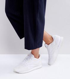 Кожаные классические кроссовки с вышивкой ришелье ASOS WHITE x Reebok - Белый