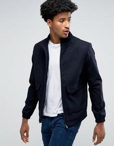 Куртка Харрингтон из смесовой шерсти Bellfield - Темно-синий