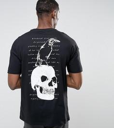 Оверсайз-футболка с принтом ASOS TALL - Черный