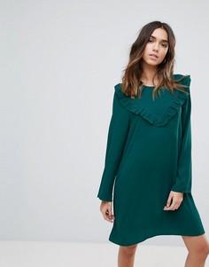 Свободное платье с оборкой Brave Soul - Зеленый