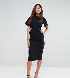 Платье-футляр с корсетной отделкой ASOS TALL - Черный