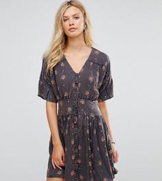 Повседневное чайное платье с цветочным принтом ASOS TALL - Мульти