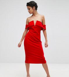 Платье-футляр с открытыми плечами Parisian Petite - Красный