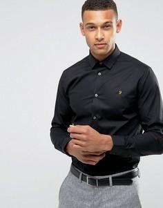Эластичная приталенная рубашка Farah - Черный
