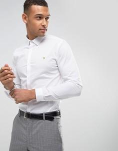Эластичная приталенная рубашка Farah Classic - Белый