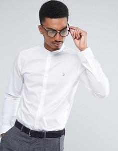 Приталенная эластичная рубашка с воротником на пуговицах Farah - Белый
