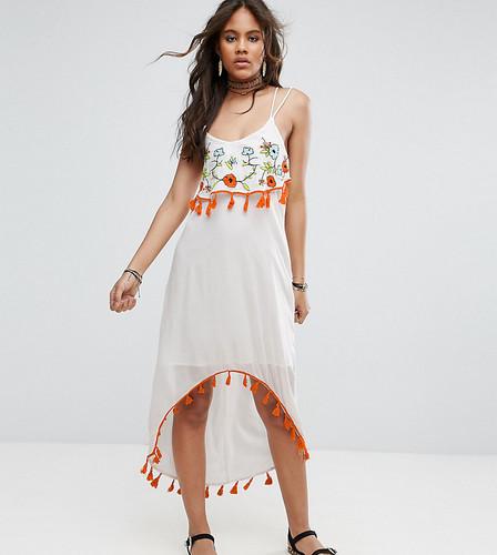 Платье миди с вышивкой Glamorous Tall - Кремовый