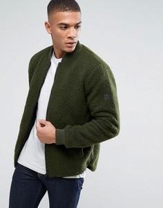 Куртка из плюшевой пряжи Solid - Зеленый