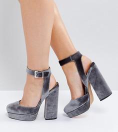 Туфли на платформе для широкой стопы ASOS PINATA - Серый