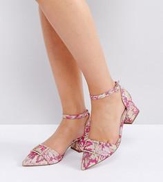 Туфли на каблуке для широкой стопы ASOS SAFFRON - Розовый