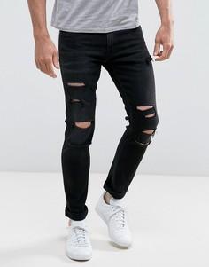 Зауженные рваные джинсы Calvin Klein - Черный
