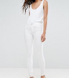 Зауженные джеггинсы с необработанными краями Vero Moda Tall - Белый