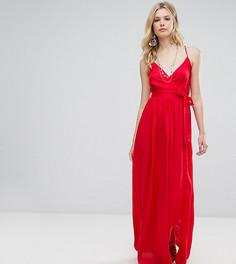 Пляжное платье макси с запахом ASOS TALL - Красный