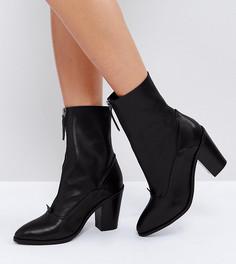 Кожаные ботинки на молнии ASOS EMPEROR - Черный