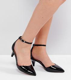 Туфли для широкой стопы на каблуке-рюмочке ASOS SODA POP - Черный
