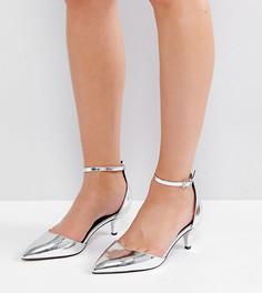 Туфли для широкой стопы на каблуке-рюмочке ASOS SODA POP - Серебряный