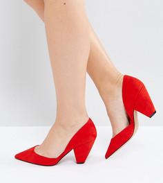 Tуфли для широкой стопы с острым носком ASOS SULPHUR - Красный