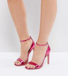 Сандалии на каблуке для широкой стопы ASOS HANG TIME - Розовый