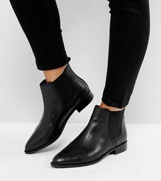 Кожаные ботинки челси для широкой стопы ASOS AUTOMATIC - Черный