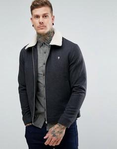 Серая куртка с воротником борг Farah Otley - Серый