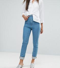 Синие джинсы слим в винтажном стиле с завышенной талией ASOS TALL FARLEIGH - Синий