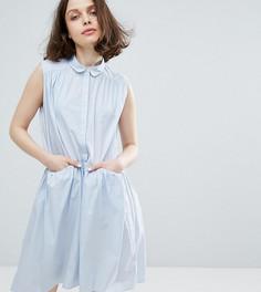 Платье-рубашка без рукавов Monki - Синий