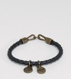 Черный браслет из искусственной кожи с подвеской Diesel A-Santy - Черный