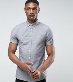 Серая оксфордская рубашка с короткими рукавами Burton Menswear TALL - Серый