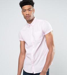 Розовая оксфордская рубашка с коротким рукавом Burton Menswear TALL - Розовый