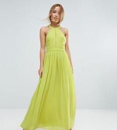 Платье макси с глубоким вырезом TD By True Decadence Petite - Зеленый